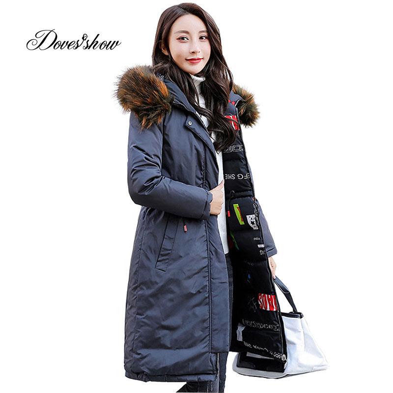 Hooded Elastic Reversible Winter   Down     Coat   Jacket Thick Warm Slim Women Casaco Feminino Female Jacket Abrigos Mujer Invierno