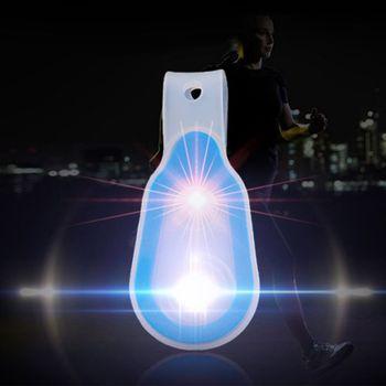 De silicona de las manos-Mochila deportiva para el aire libre luz correr de noche Clip de luz tipo magnético IPX6 impermeable 3 Modo iluminación herramientas