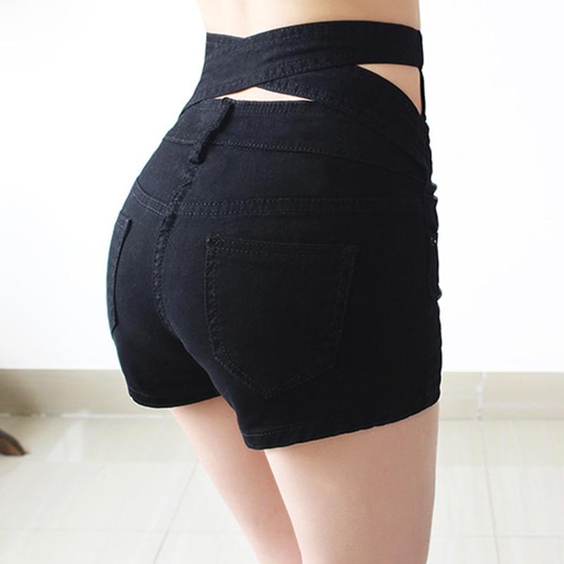 BONJEAN Button White Denim   Shorts   Women 2017 Summer Fashion Casual Slim Sexy Plus Size High Waist   Shorts   For Women