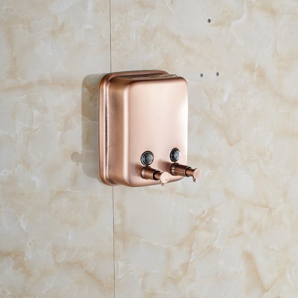 Kitchen Bathroom Soap Dispenser 1000 ml Kitchen Soap Box Dispenser Antique Copper