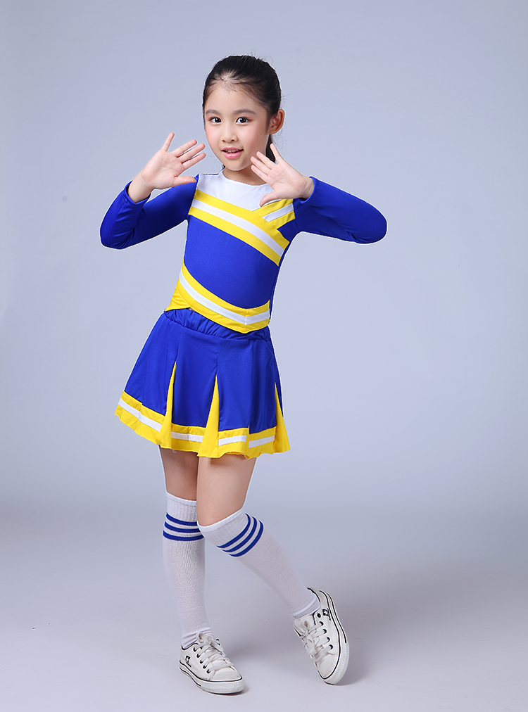 Children Academic Dress Primary School Uniforms Set Girl Cheerleader Cheer Leaders Costume Boy Aerobics Clothing Girls Uniforms