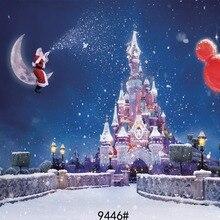Фон для фотосъемки с рождественским замком 210x150 см виниловые фотообои для фотостудии-задник-фон для фотографирования