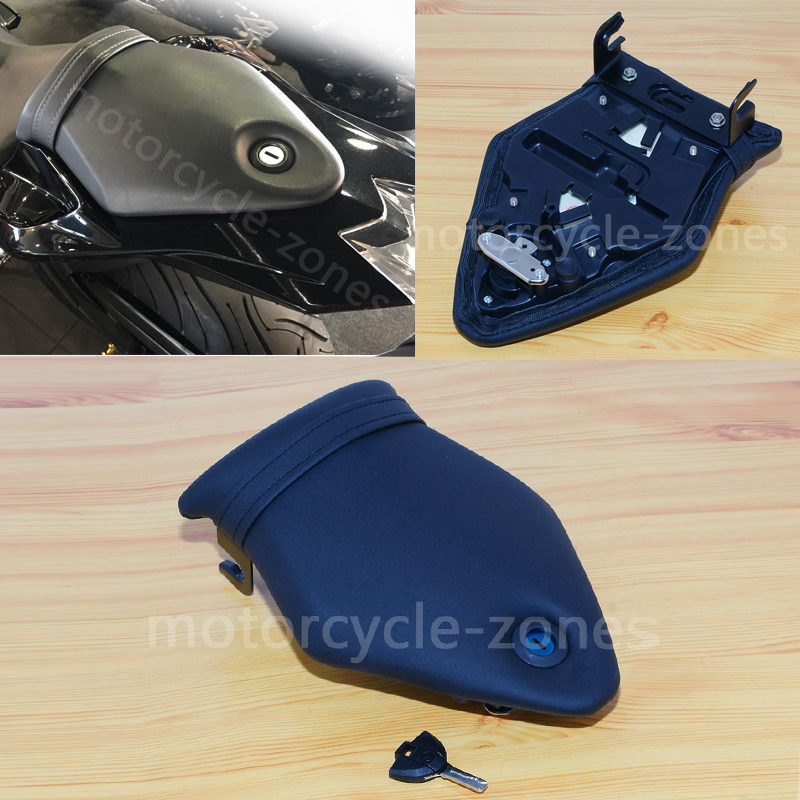 Black Rear Passenger Seat Back Pad W// Lock /& Key For BMW S1000RR C133 2009-2017