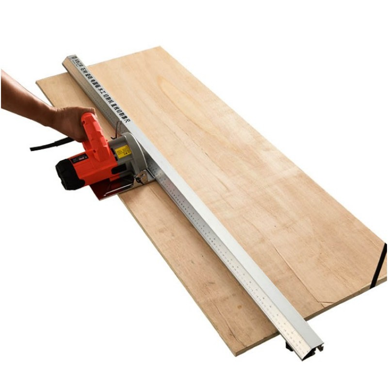 Scie à bois scie circulaire électrique Machine de découpe Guide pied règle Guide trois-en-un 45 degrés chanfrein luminaire - 3