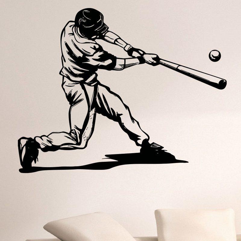 Fototapeta Dctal Baseball Car Windows Samolepky na stěnu Sport Vinylové nálepky na zeď Pegatina Decor Fototapeta