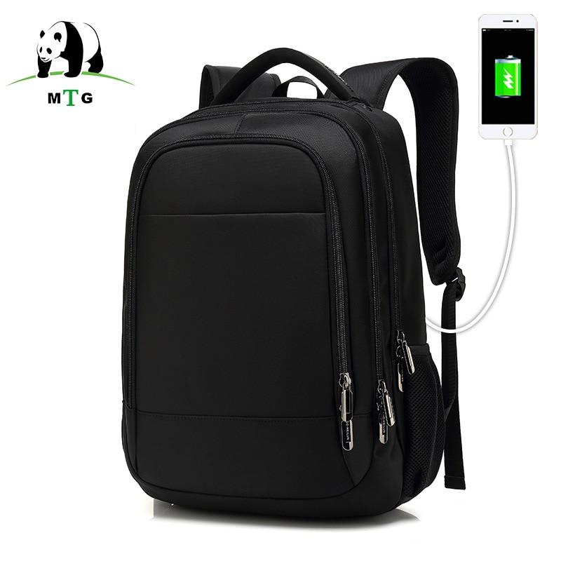 MTG 15.6inch Laptop Backpack Male USB Charging Business Anti theft Backpack for Men Fashion Travel Backpacks School Bags Mochila new design usb charging men s backpacks male casual travel luminous mochila teenagers women student school bags laptop backpack