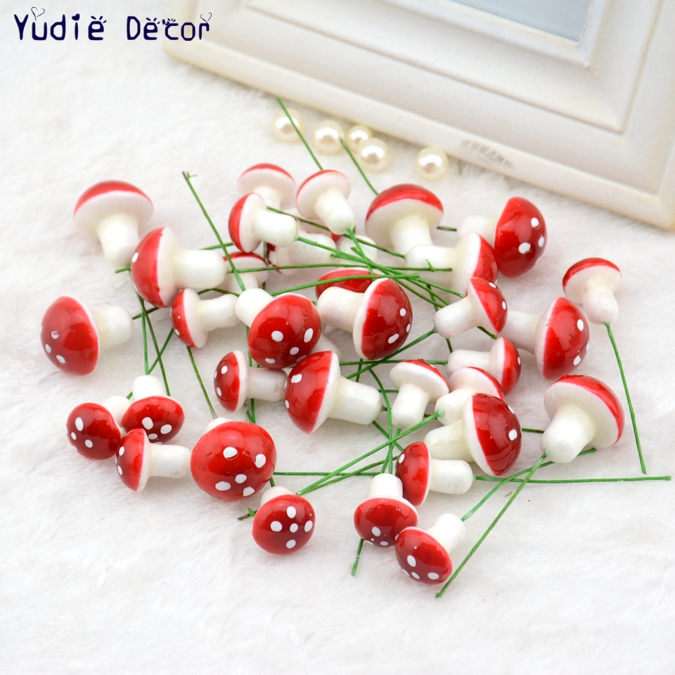 unids mini espuma de setas hongo planta de flores para la boda regalo de