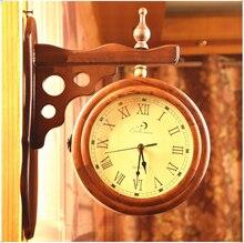 070229   European creative fashion a rural household adornment double side wall wall clock sitting room