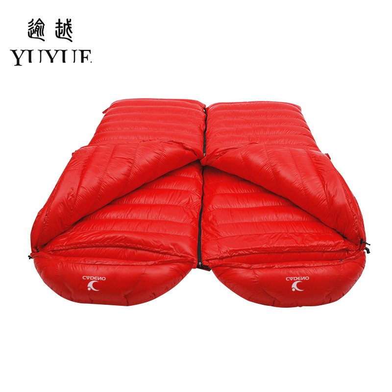 Tourism camping equipment sleeping bag adult  for tourist camping tent envelope type survival sleeping bag down sleeping bag 5