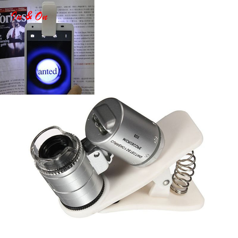 Universal 60X Optical Zoom Clip Telescope Camera Microscope Lens for Mobile Phone Lens