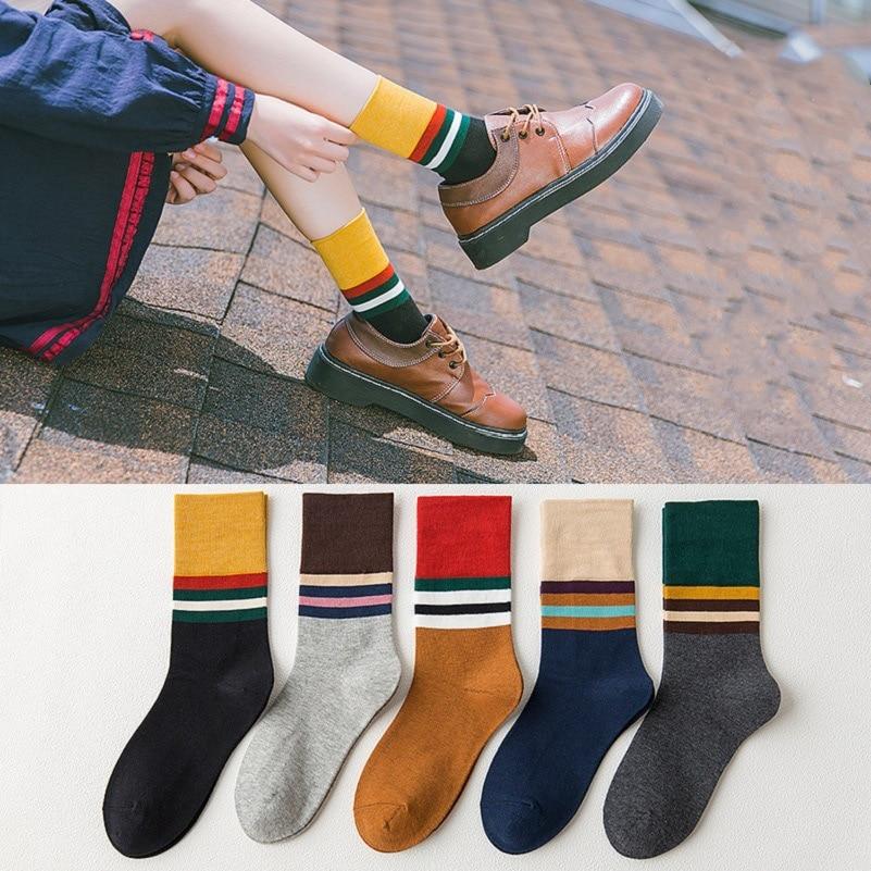 Women's Socks Hot Sale 2020 New Socks Harajuku Cotton High Quality Gifts Happy Ladies + Socks