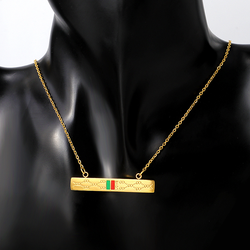 Trendy Stainless Steel Pendant Gucci look alike necklace