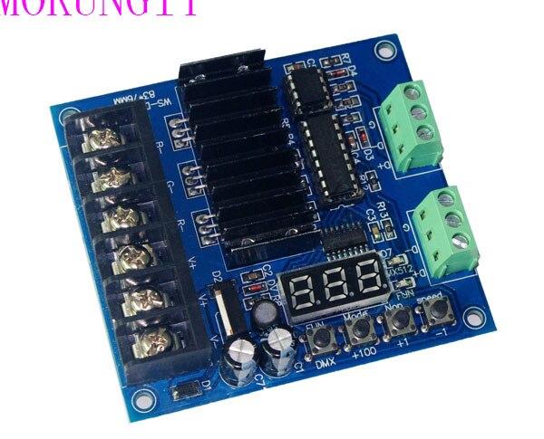 Fast shipping 5pcs Mokungif Factory direct sales of new WS-DMX-D3CH 24A decoder dmx512 controller light bar decoder spot