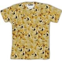 2015 New Harajuku T Shirt Women Men Funny Head Doge 3d T Shirt God Dog Shiba