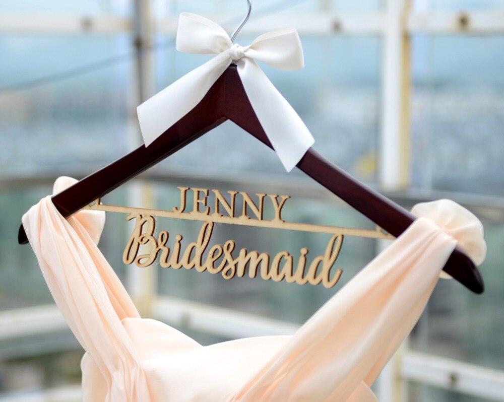 Personalisierte Rustikale Hochzeit Aufhänger, braut Brautjungfer ...