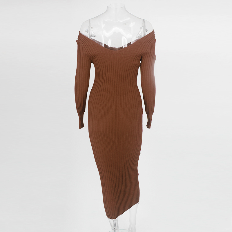 Knit Sweater Maxi Dress