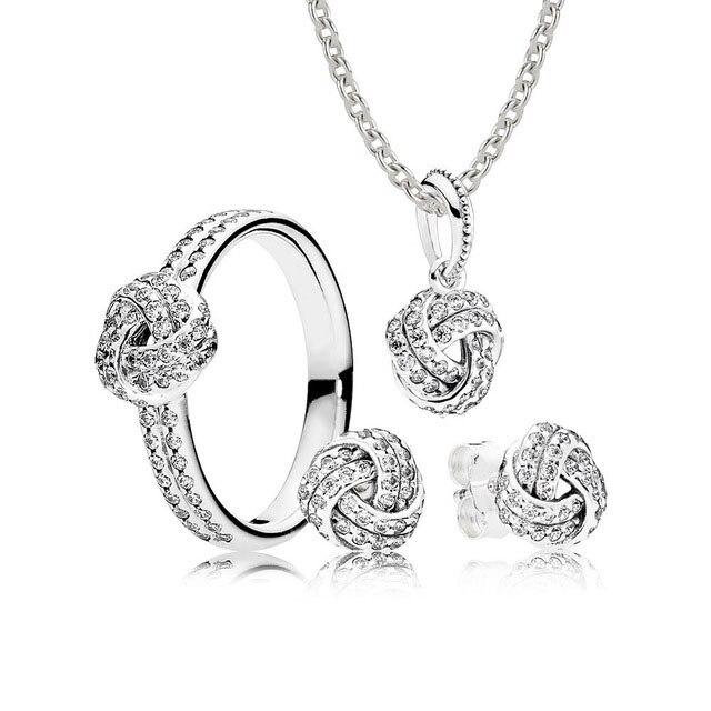 Kristie 100% 925 argent Sterling B800971 ensemble collier et boucles d'oreilles carré Rose pendentif