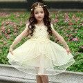 Vestido da menina de Verão de Manga Curta Vestido de Princesa Para As Meninas Roupas de Algodão Crianças Roupas de Malha Lace Vestidos Meninas 4-13Y DQ213