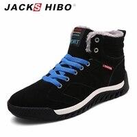 JACKSHIBO/Мужские зимние сапоги Теплые ботильоны на меху для Для мужчин S зимняя водонепроницаемая обувь на толстой подошве мужской обуви Сапог...