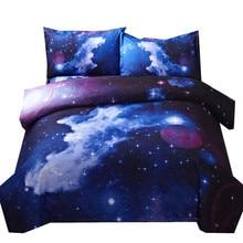3d Galaxy Bettbezug set Einzigen doppel Twin/Königin 2 stücke/3 stücke/4 stücke bettwäsche sets universe Weltraum Themen Bett Leinen