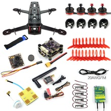 DIY Q250 FPV Racer Drone PNP S-Tower Flight Control Glass Fiber Frame with 700TVL Cam FASST Mode TX RC Quadcopter F09206-H
