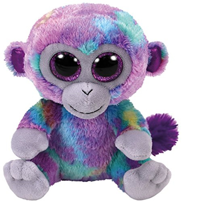 TY Beanie Boos 6 15cm Zuri The Monkey Plush Regular Stuffed Animal Collection Soft Doll Toy S267