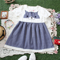 The new spring and summer dress funny cat doll collar adorable cute dress loose soft sister
