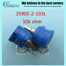 3590S-2-103L 3590 S 10 K ом Точность Многооборотный Потенциометр 10 Кольцо Регулируемый Резистор