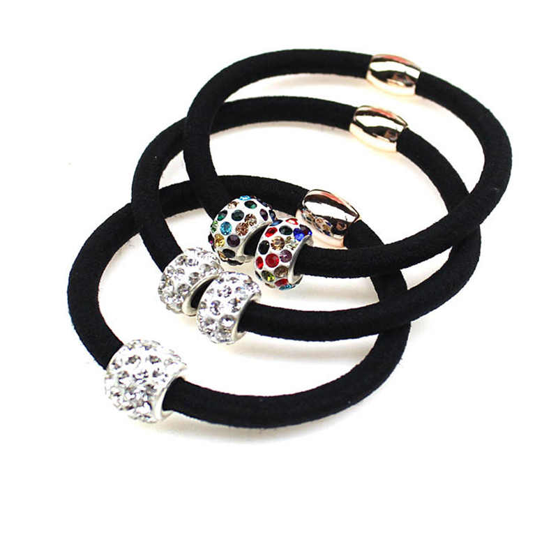 3 PCS Elastic Hair Bands Rhinestones Ball Hair Rope women Girl Lovely Stone Hair Clips Hair Accessories christmas gift