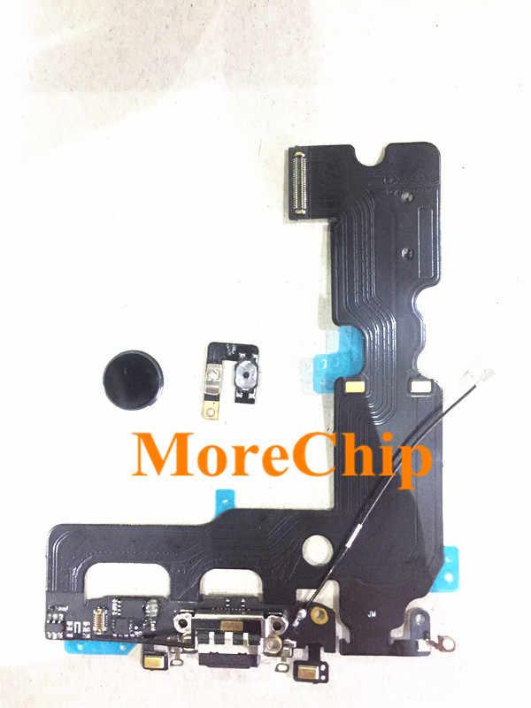 best cheap 33d35 7dcc9 For iPhone 7 Plus 7P USB Charger Flex Cable with Home Button Key Flex  Ribbon Fix Home Return Function Repair Fingerprint Problem