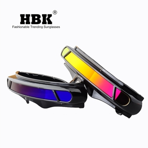 Image 4 - HBK x man laser Cyclops okulary projektant specjalne materiały pamięci spolaryzowane tarcza podróży okulary przeciwsłoneczne UV400 PC K40021