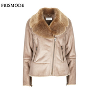 S 7XL Winter Female Faux Fur Shearling Jacket 2016 Fashion Thick Warm Casual Plus Size Women