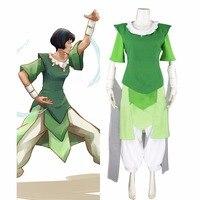 Custom Made Avatar: Korra Sezon 3 Opal Cosplay Kostüm Kadınlar Kız Cosplay Üst Skrt Pantolon L0516