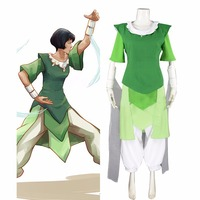 Custom Made Avatar: The Legend of Korra Season 3 Opal Cosplay Costume Women Girls Cosplay Top Skrt Pants L0516