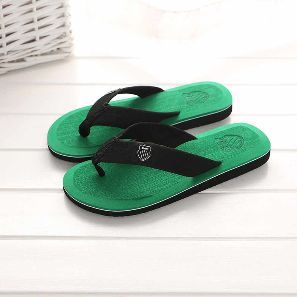 ฤดูร้อนรองเท้าแตะชาย Flip Flops คุณภาพสูงรองเท้าแตะชายหาด Zapatos Hombre Casual รองเท้าขายส่ง chinelos de ver o #7