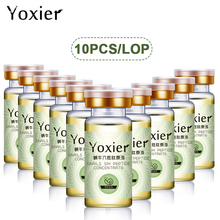 10PCS/LOT Anti-Aging Snails Six Peptide Concentrate Face Care Hyaluronic Acid Moisturizing Skin Care Serum Snail Pure Extract amazing baimiss snail pure extract anti aging hydrating hyaluronic acid moisturizers treatment face care cream serum
