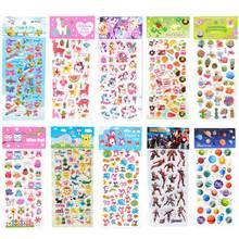5 Sheets 3D Unicorn Stickers Pack Cartoon Animals Pegatinas Iron Man Avengers Funny Sticker Sea World Fish Graffiti On Scrapbook