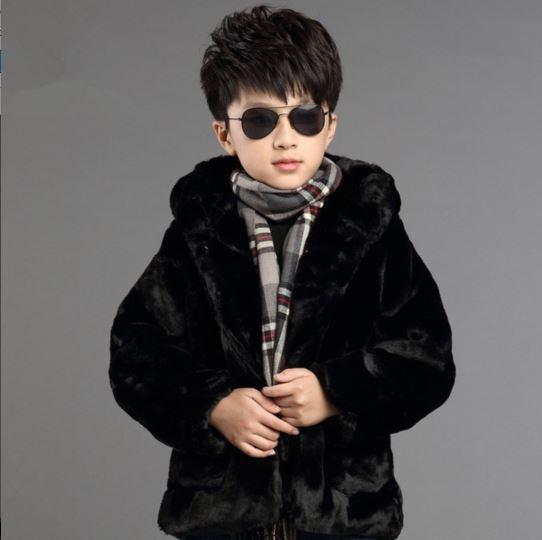 Épaisse Manteau Vestes Enfants Furry Hiver Garçons Filles De AR35jLq4