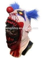 Cadılar bayramı Partisi Cosplay Lateks Korkunç Seri Katil Palyaço Maskesi Kostüm Elbise