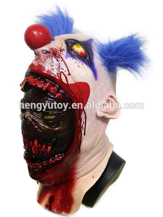 Halloween Party Cosplay Latex Scary Serial Killer Clown ...