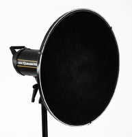 55cm / 22 Studio White Beauty Dish Bowens Mount + Honeycomb Grid + Diffuser Sock for Godox Flash Storbe