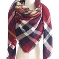 2017 Winter Brand Plaid Blanket Scarf Za Thicker Women Pashmina Poncho Shawl Hiver Acrylic Bandana Capes ponchos Foulard Mujer