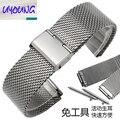 22*18mm de la banda de reloj accesorios reloj de acero tira de acero correa de reloj masculino huawei especial mariposa doble broche de presión