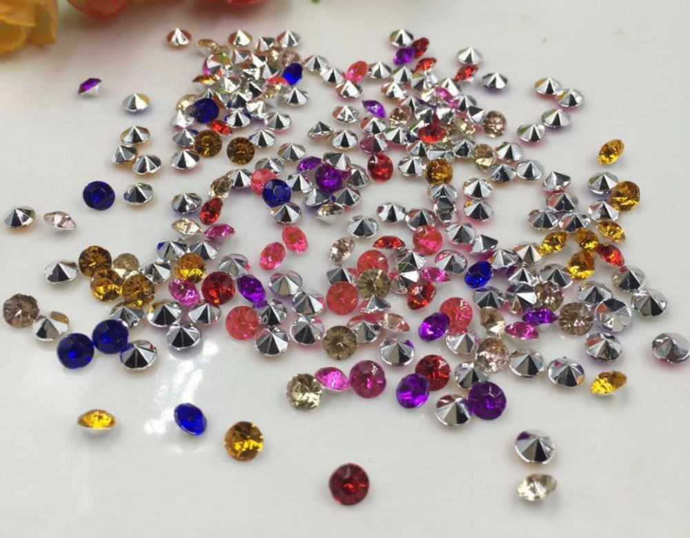 10000pcs 4mm Mixed Acrylic Rhinestone Confetti Wedding Party Favor Table Scatters Crystal Decoration