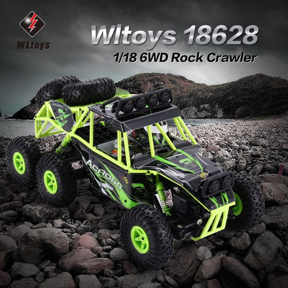 Wltoys 18628 1/18 2.4G 6WD Electric Rock Climbing Crawler RC car Desert Truck Off-Road Buggy Vehicle with LED Light RTR