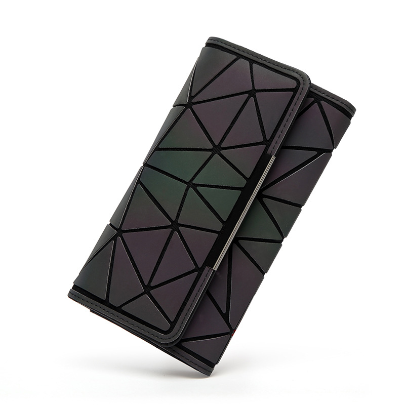 2018 Noctilucent Women Wallets Purse Geometry Luminous Ladies Clutch Phone Bag Female ZipperWallet Card Holder Carteira Feminina