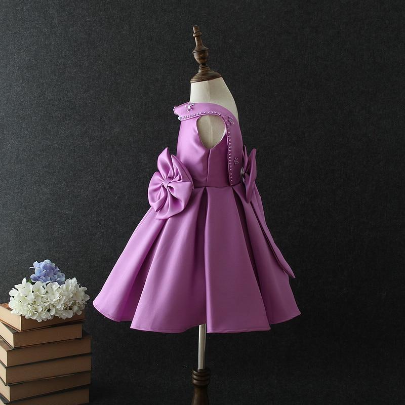 Прекрасный милый цветок створки платье для девочек Дешевые бальное платье пол Длина рюшами из органзы цветок платья для девочек милые девушки вечерние платья - 6