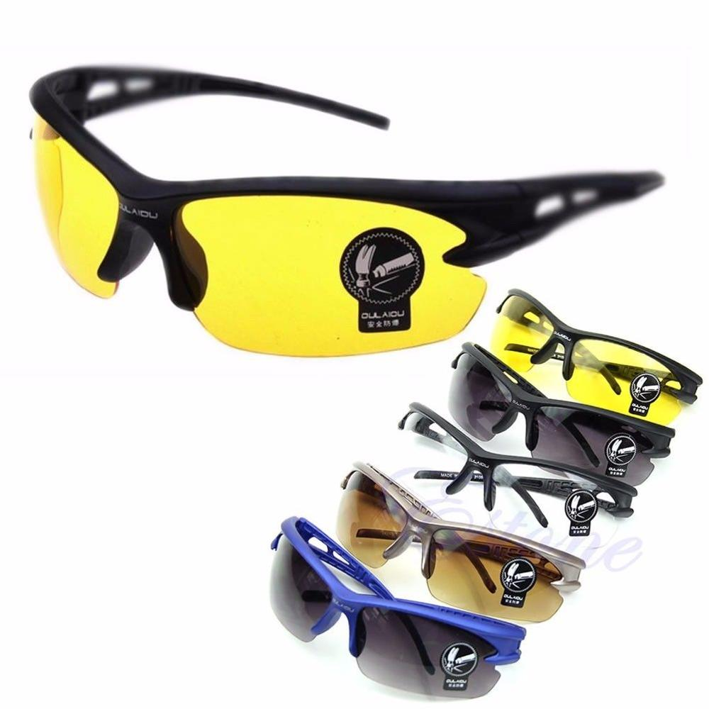 Hot Seller Limited Supply Sports UV400 HD Night Vision Cycling Riding Running Driving Glasses Sunglasses Goggles Hiking Eyewear new safety welding cycling riding driving glasses sports sunglasses protect goggles high quality free shipping