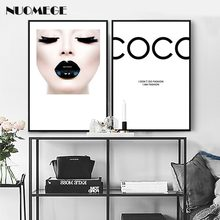 NUOMEGE Nordic Simple Canvas Wall Art Poster and Print Wall Pictures for Beauty Salon Make-up Room Decorative Painting(China)