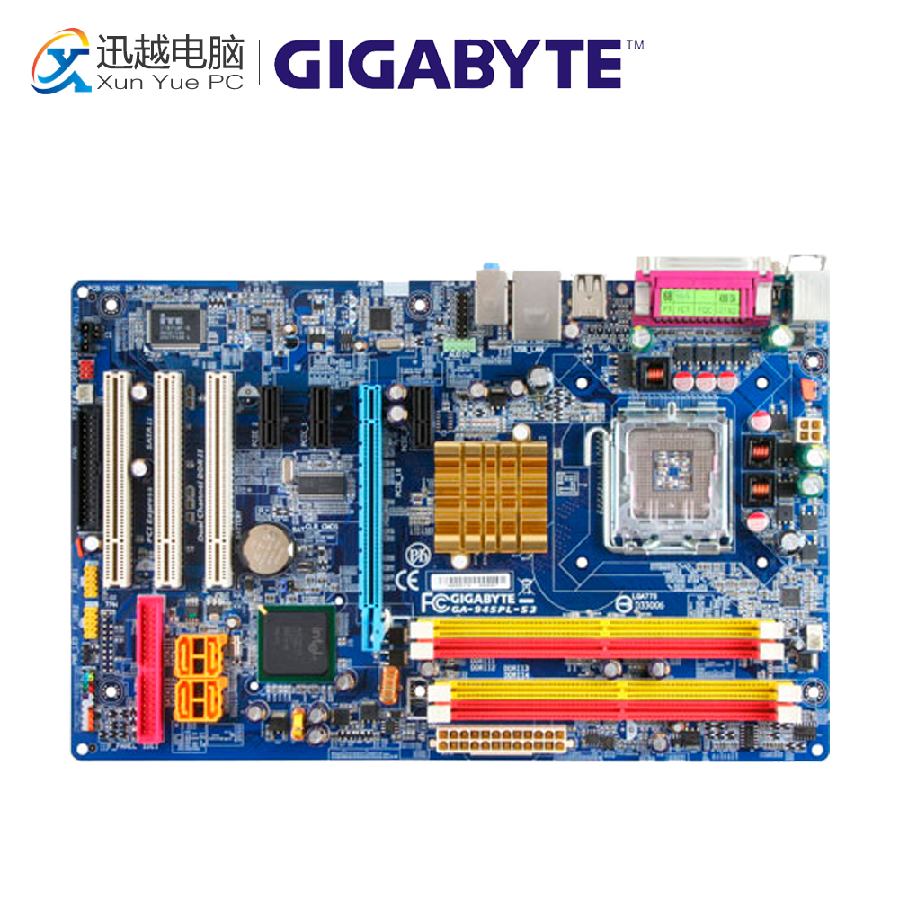 Gigabyte GA-945PL-S3 Desktop Motherboard 945PL-S3 945PL LGA 775 DDR2 2G SATA2.0 ATX terekhov girl красные хлопковые брюки с вышивкой